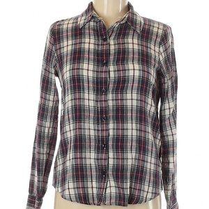 Forever 21   long sleeve plaid button up shirt